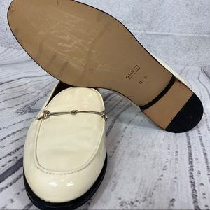 Vintage Gucci driving shoes loafers white